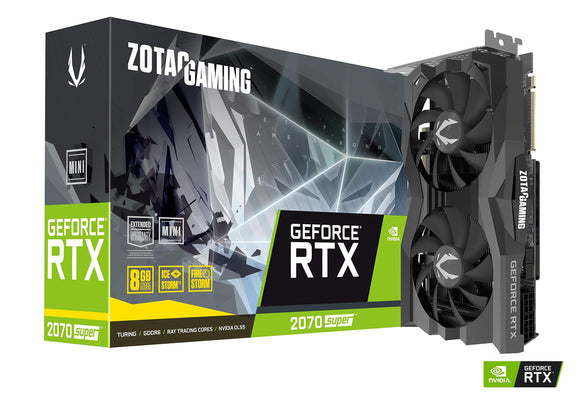 ZOTAC Gaming GeForce RTX 2070 Super Mini 8GB GDDR6 256-Bit 14Gbps Gaming Graphics Card, IceStorm 2.0, Super Compact, Zt-T20710E-10M