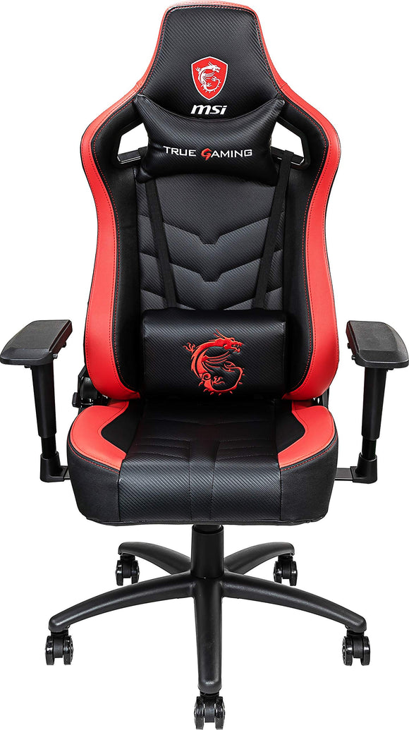 MSI MAG CH110 Gaming Chair Ergonomic Office Chair with Steel Frame Support, Breathable Molded Foam, 180-Degree Reclinable, 4D Multi-Adjustable Armrests, Headrest Pillow and Lumbar Cushion Included