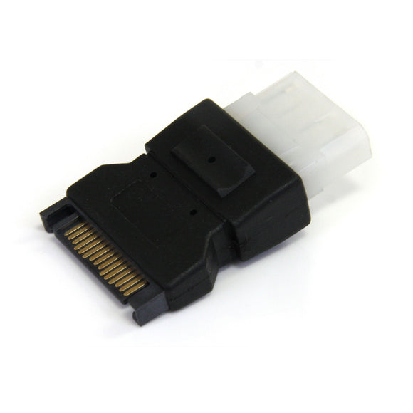StarTech.com SATA to LP4 Power Cable Adapter - Power Adapter - SATA Power (M) to 4 pin Internal Power (F) - Black - LP4SATAFM