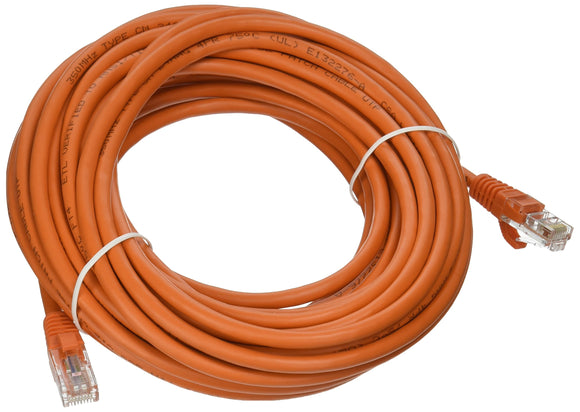 C2G 00456 Cat5e Cable - Snagless Unshielded Ethernet Network Patch Cable, Orange (35 Feet, 10.66 Meters)