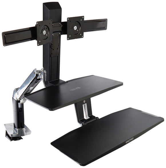 Ergotron WorkFit-A with Suspended Keyboard, Dual HD (24-392-026)