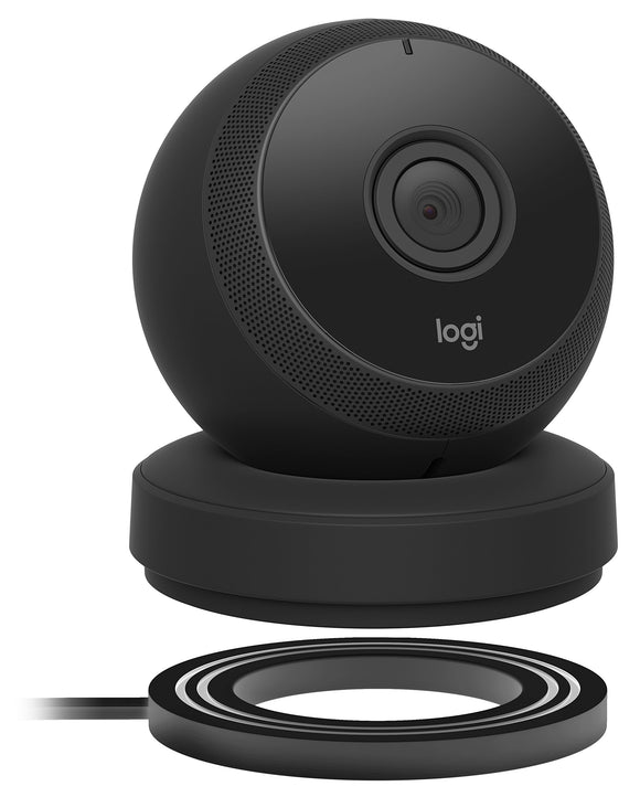 Refurbished Logi Circle Portable Wi-Fi Video Monitoring Camera with 2way Talk (Black)