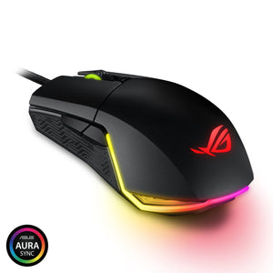 ASUS ROG Pugio Gaming Mouse Aura RGB USB Wired Optical Ergonomic Ambidextrous Gaming Mouse