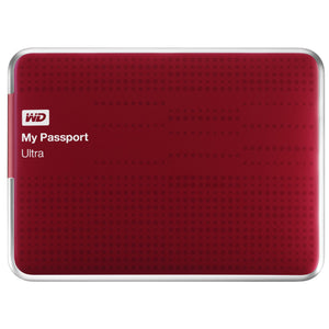 WD My Passport Ultra 500GB Portable External Hard Drive USB 3.0 with Auto and Cloud Backup, Red (WDBPGC5000ARD-NESN)