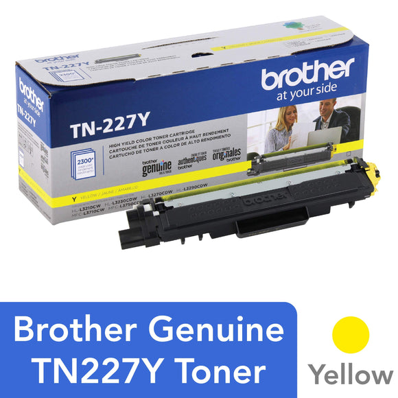 Brother Genuine TN227Y, High Yield Toner Cartridge, Replacement Yellow Toner, Page Yield Up to 2,300 Pages, TN227, Amazon Dash Replenishment Cartridge
