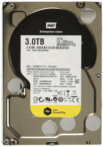 WD RE SAS 3 TB Enterprise Hard Drive: 3.5 Inch, 7200 RPM, SAS, 32 MB Cache - WD3001FYYG