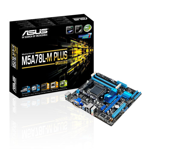 Open Box ASUS M5A78L-M Plus/USB3 DDR3 HDMI DVI USB 3.0 760G AM3+ Based Motherboard