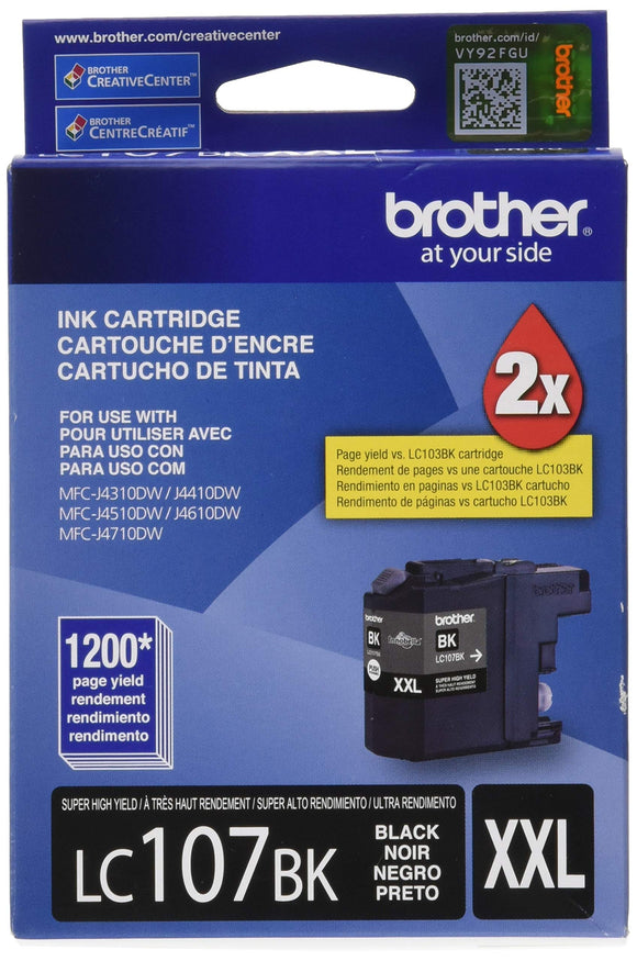 Brother LC107 Super High Yield Ink Cartridge - Black