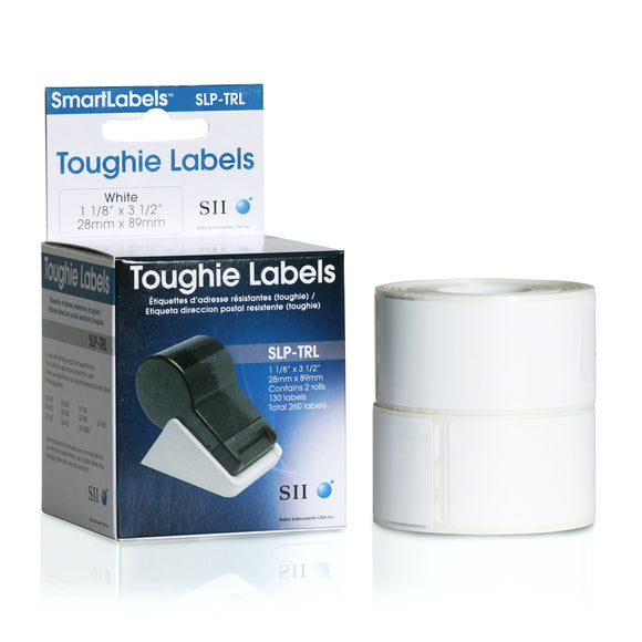 Toughie Add Labels 1 1/8in X 3-1/2in Pckd in Blk Plastic Bags