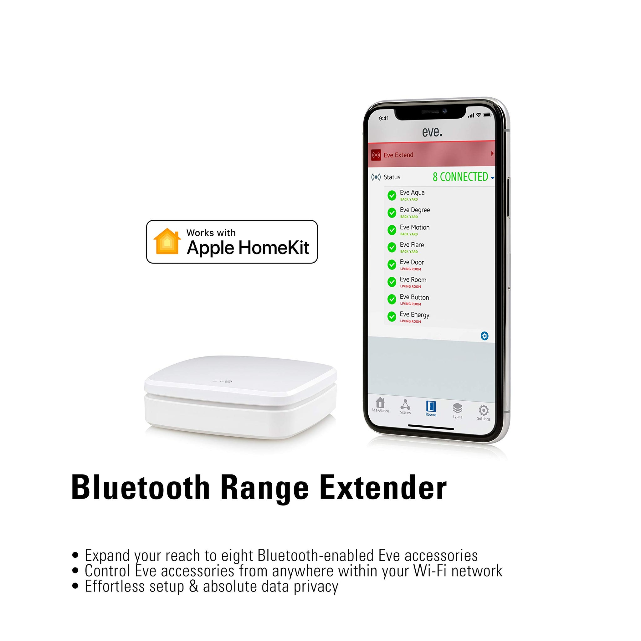 Eve Eve 20eab9901 Bluetooth Range Extender For Apple Homekit Enabled A Onedealoutlet Featured Deals