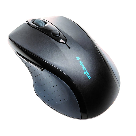 Kensington Pro Fit K72370US Mouse-Optical-Wireless-Radio Frequency-Black-Retail-USB-1200 dpi-Scroll Wheel-Right-handed Only