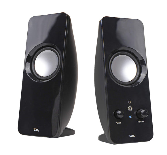 Cyber Acoustics CA-2050 Dynamic Curve Series Sonic 2.0 Powered Speaker System (Ca-2050), Black