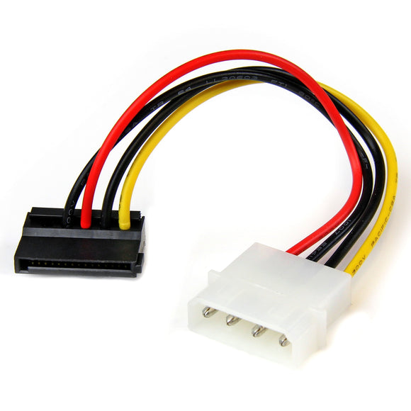 StarTech.com 6in 4 Pin LP4 to Left Angle SATA Power Cable Adapter - LP4 to SATA Power Adapter