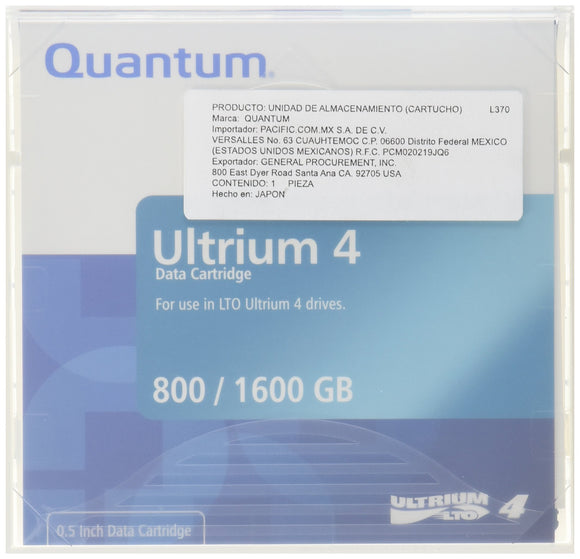 Quantum LTO Ultrium 4 Media Cartridge