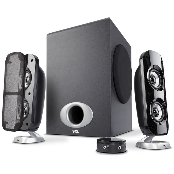 Cyber Acoustics High Power 2.1 Subwoofer Speaker System with 80W of Power - Perfect for Gaming, Movies, Music, and Multimedia Sound Solutions (CA-3810)