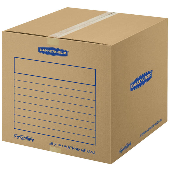 Bankers Box SmoothMove Basic Moving Boxes, Medium, 18 x 18 x 16 Inches, 10 Pack (7713902)