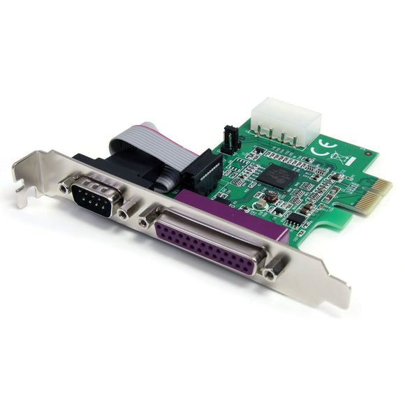 StarTech.com 1S1P Native PCI Express Parallel Serial Combo Card with 16950 UART (PEX1S1P952)