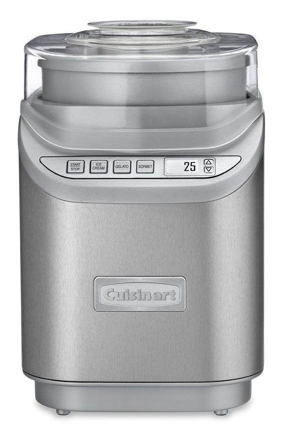 Open Box Cuisinart ICE-70C Gelato, Ice Cream and Sorbet Maker, Silver