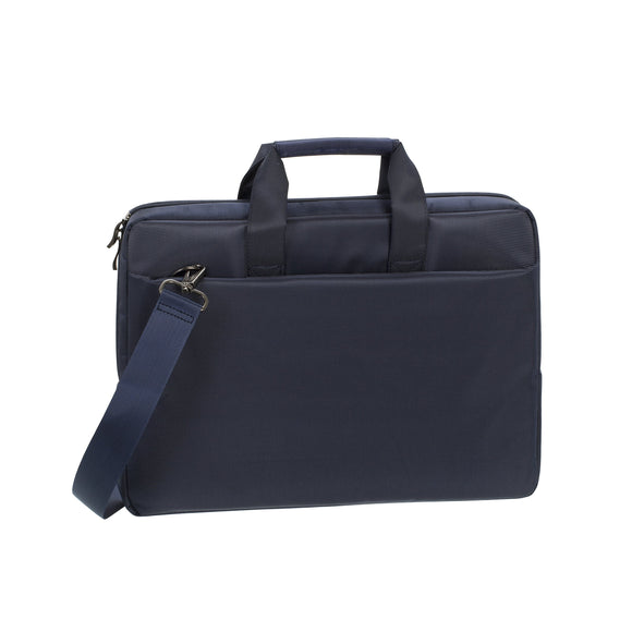 Rivacase 15.6 inch Stylish Laptop Shoulder Bag w/Padded Compartment - Blue