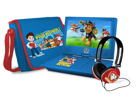 Ematic Nickelodeons Paw Patrol Theme 7-Inch Portable DVD Player with Headphones and Travel Bag, Blue