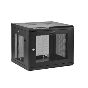 "StarTech.com 9U Wall Mount Server Rack Cabinet - 4-Post Adjustable Depth (2"" to 19"") Network Equipment Enclosure with Cable Management (RK920WALM)"
