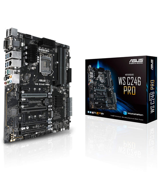 ASUS LGA1151 ECC DDR4 M.2 C246 Server Workstation ATX Motherboard for 8th Generation Intel Motherboards WS C246 PRO