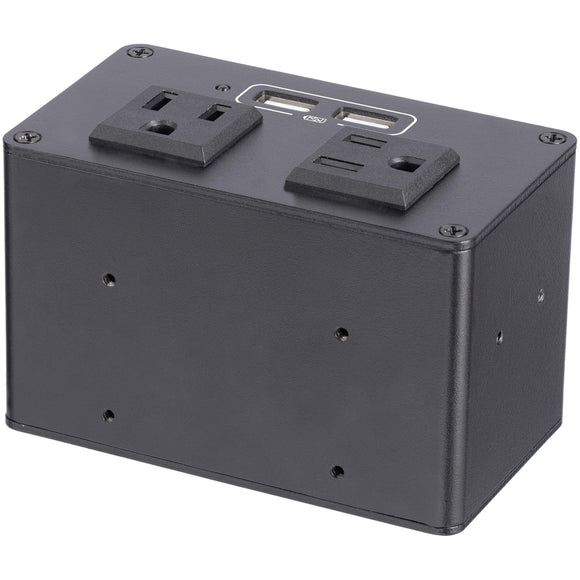 Power Outlet Module for Conference Table Connectivity Box - 2X AC Power and 2X USB-A - Power and Charging Hub (MOD4POWERNA)