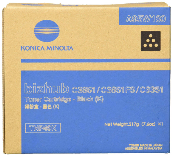 Konica Minolta Toner Cartridge, Black, Tnp-49k