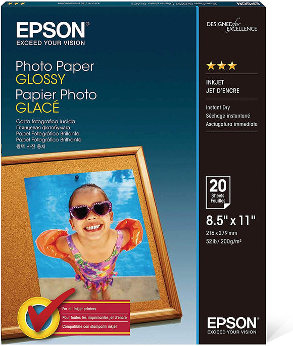 Epson Photo paper - Letter A Size (8.5 in x 11 in)