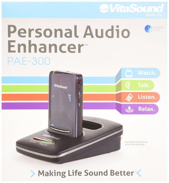 Open Box Vitasound Personal Audio Enhancer Blue (PAE-300B)
