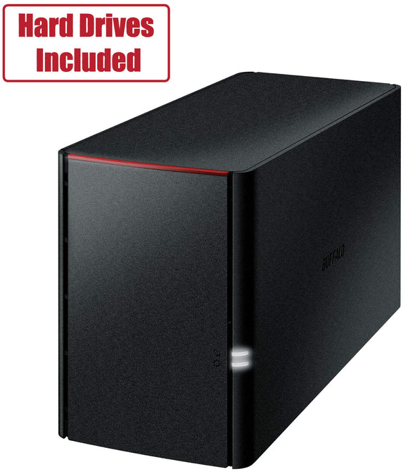BUFFALO LinkStation SoHo 2-Bay Desktop 8TB NAS with Hard Drives Included