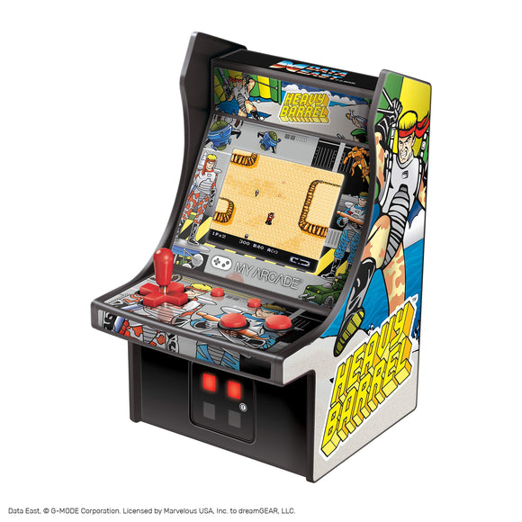 My Arcade Heavy Barrel Micro Player - 6.75 Inch Mini Retro Arcade Machine Cabinet - Licensed Collectible