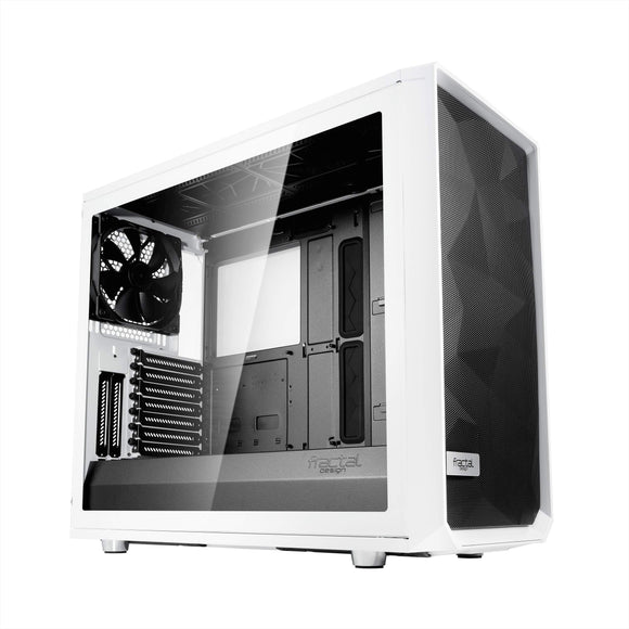 Fractal Design Meshify S2 White ATX Modular High-Airflow Tempered Glass Window Mid Tower Computer CaseFD-CA-MESH-S2-WT-TGC
