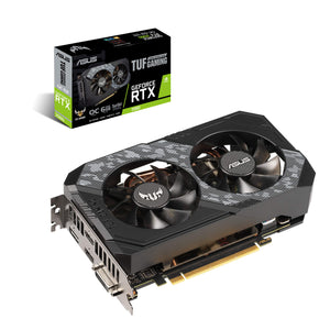 ASUS TUF Gaming GeForce RTX 2060 Overclocked 6GB Edition 4K VR Ready HDMI 2.0b DP 1.4 Graphics Card (TUF-RTX2060-O6G-GAMING)