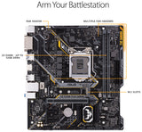 ASUS TUF H310M-Plus Gaming LGA1151 (300 Series) DDR4 HDMI VGA M.2 mATX Motherboard (TUF H310M-PLUS Gaming)