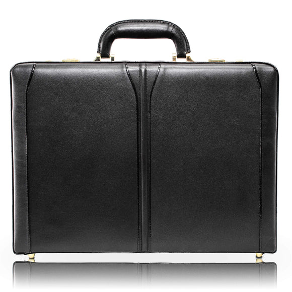 McKleinUSA 80455 Lawson Leather Attache Case, Black