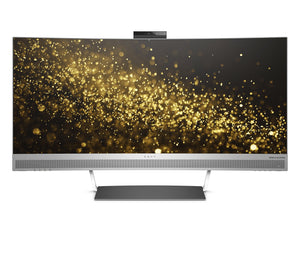 HP ENVY 34 Curved Display Ultra WQHD Curved Monitor with AMD Freesync Technology, Webcam and Audio by Bang & Olufsen (Black/Silver)
