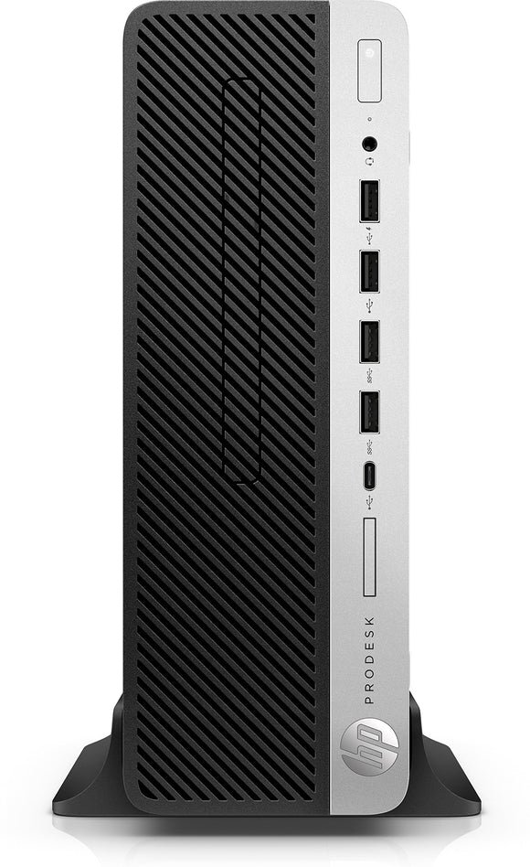 HP ProDesk 600 G4 Small Form Factor Desktop PC Including Intel i7-8700 6 Core 3.2GHz, 8GB DDR4 RAM, 256GB SSD, Windows 10 Pro, 3 Years WNTY