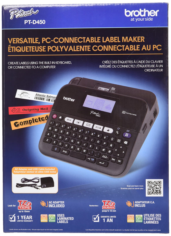 Brother PTD450 Versatile PC-Connectable Label Maker