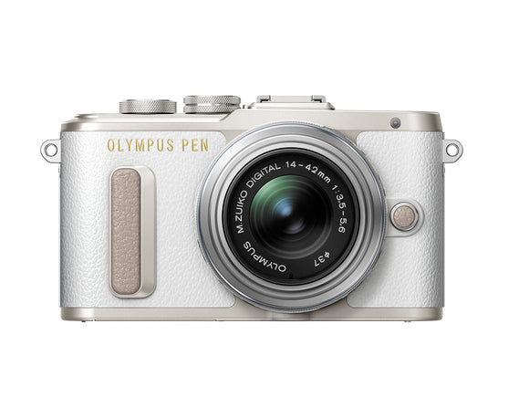 Olympus E-PL8 White Camera with 14-42mm IIR lens