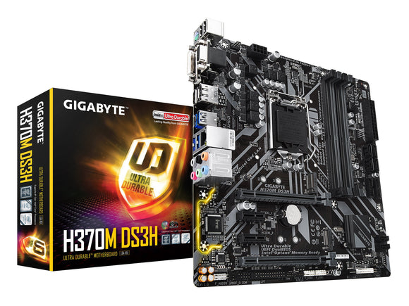 GIGABYTE H370M DS3H (LGA1151/Intel/H270/USB 3.1 Gen 1 (USB3.0) Type A Type C/Micro ATX/DDR4/Motherboard)