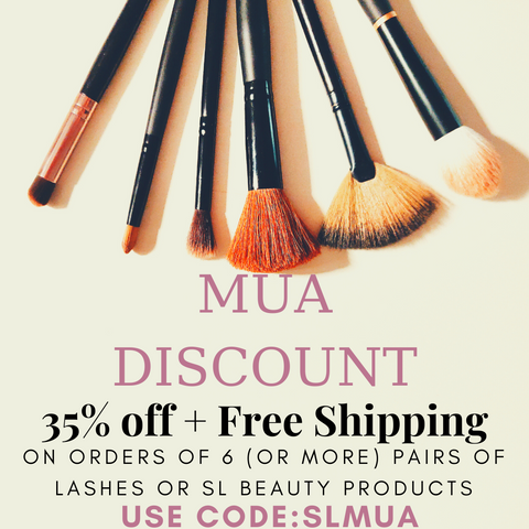 makeup artist discount 35% off 6 or more items use cpde SLMUA
