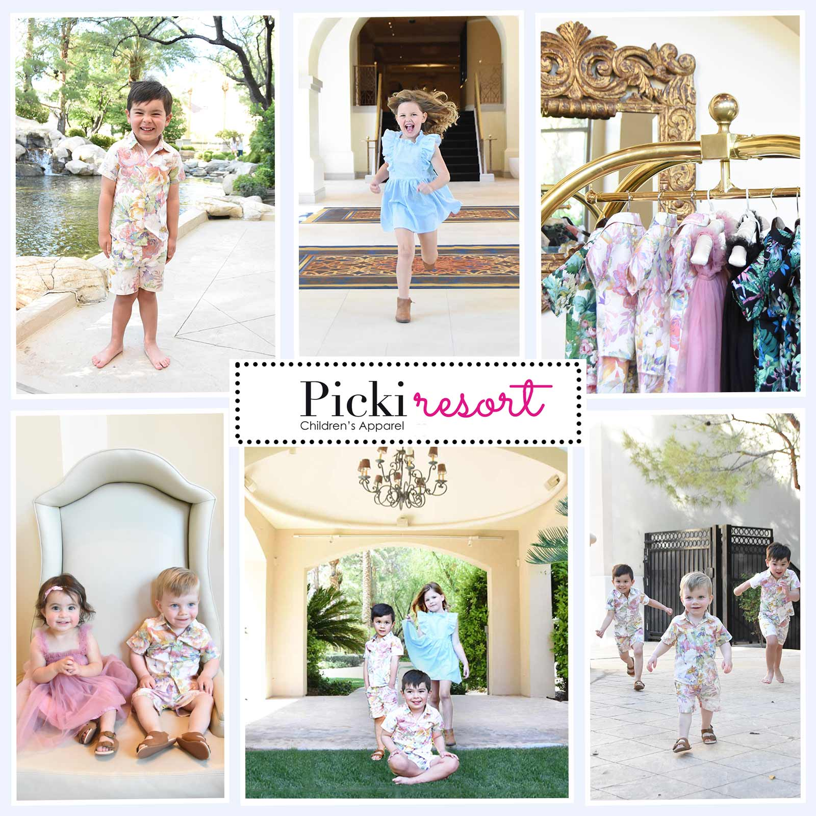 Kids summer clothes and resort wear.