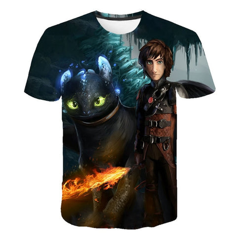 "T-SHIRT ""DRAGON"" ET ""HAROLD"""