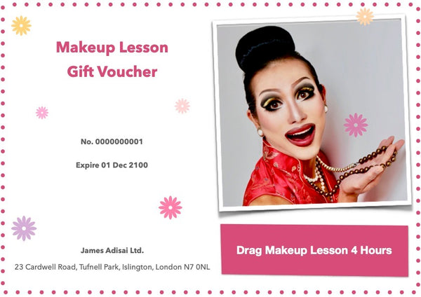 drag makeup lesson gift vouchers