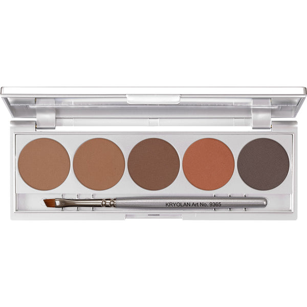 Kryolan Eyebrow Powder Palette 1 - Kryolan Eyebrow Colours
