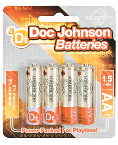 Doc Johnson Batteries - Aaa 4 Pack - After Hours Toys