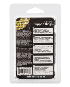 Silicone Support Rings - Black - After Hours Toys