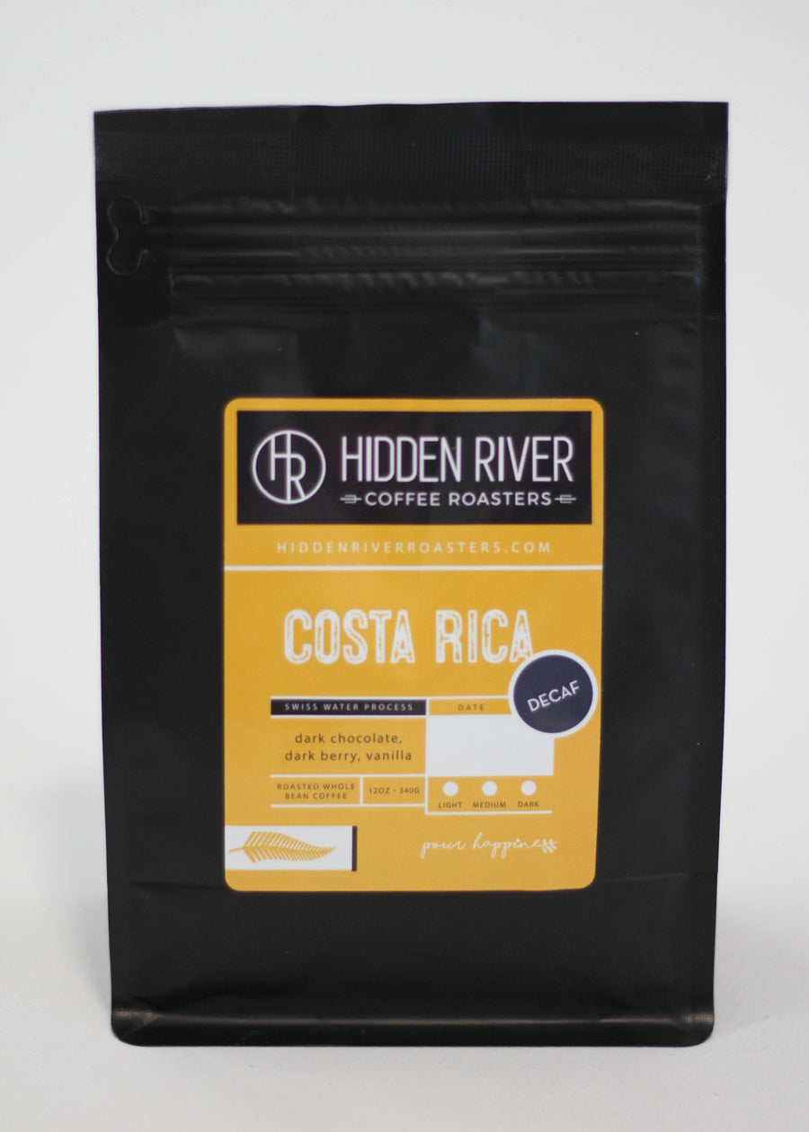 Costa Rica Decaffeinated (Medium/Dark Roast) Wholesale for Retail - 12 oz