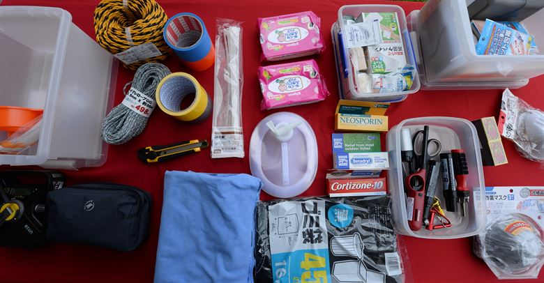 disaster prep items sample